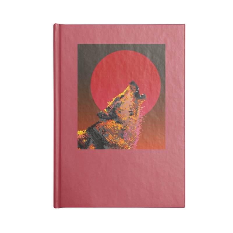 red moon rising Accessories Lined Journal Notebook by okik's Artist Shop