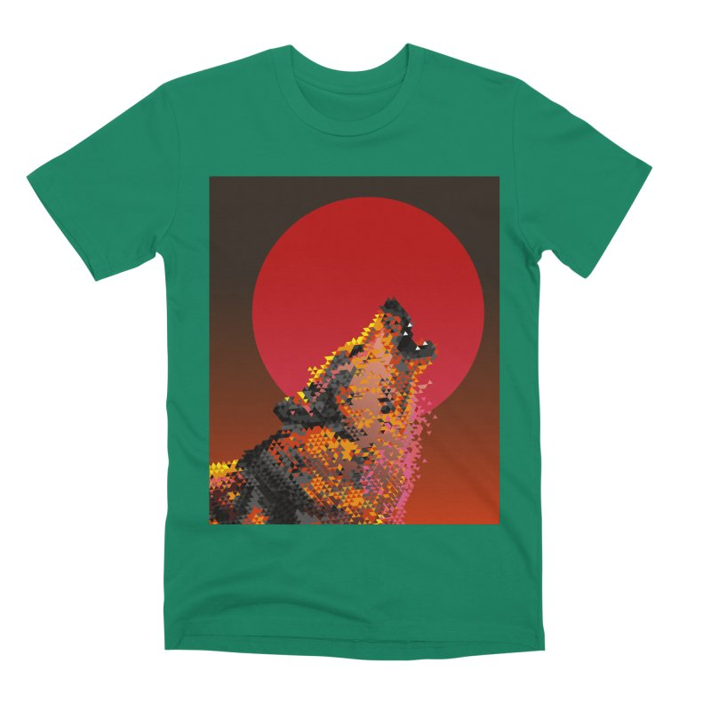red moon rising Men's Premium T-Shirt by okik's Artist Shop