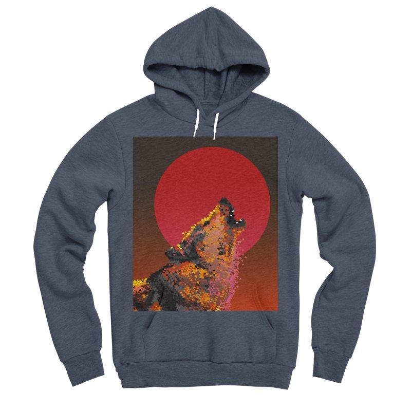 red moon rising Men's Sponge Fleece Pullover Hoody by okik's Artist Shop