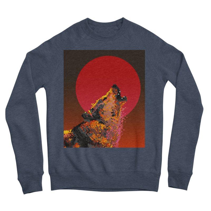 red moon rising Men's Sponge Fleece Sweatshirt by okik's Artist Shop
