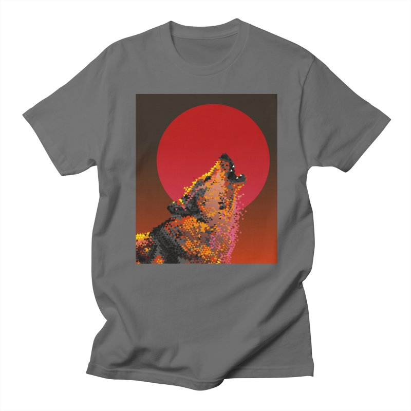 red moon rising Men's T-Shirt by okik's Artist Shop