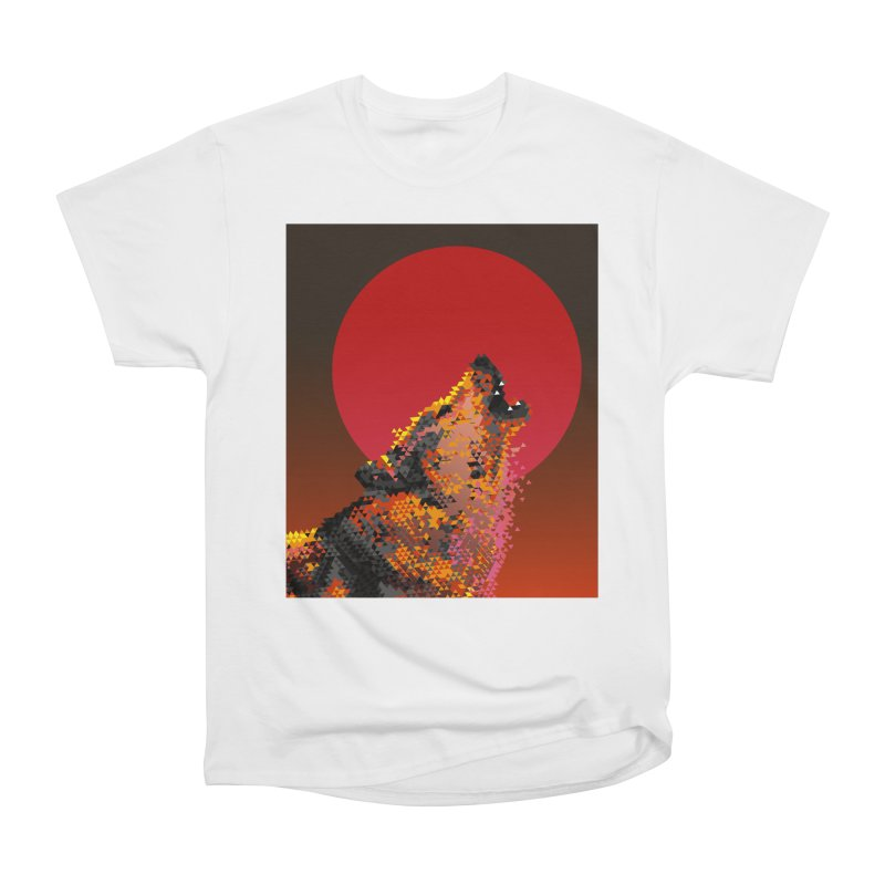 red moon rising Men's Heavyweight T-Shirt by okik's Artist Shop