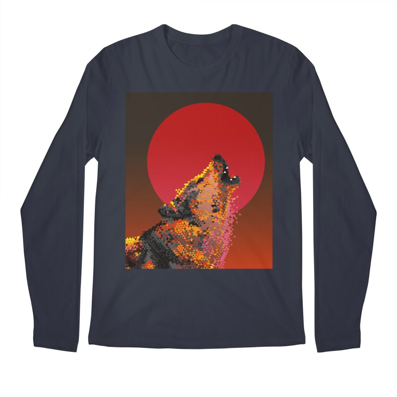 red moon rising Men's Regular Longsleeve T-Shirt by okik's Artist Shop