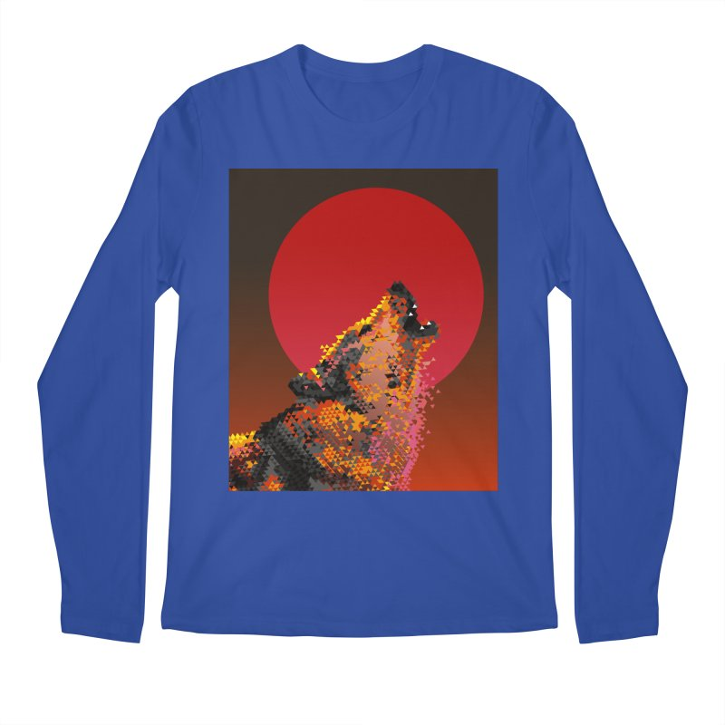 red moon rising Men's Regular Longsleeve T-Shirt by okik's Artist Shop
