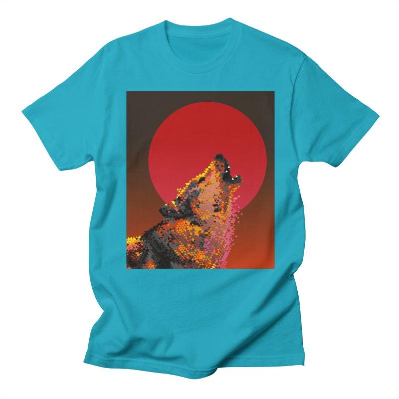 red moon rising Men's Regular T-Shirt by okik's Artist Shop