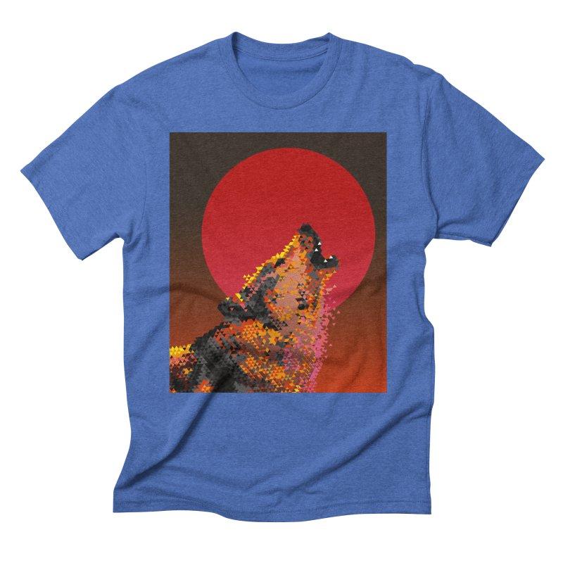 red moon rising Men's T-Shirt by okik's Artist Shop