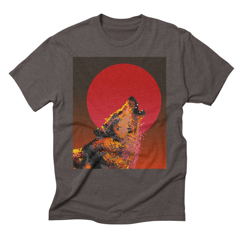 red moon rising Men's Triblend T-Shirt by okik's Artist Shop
