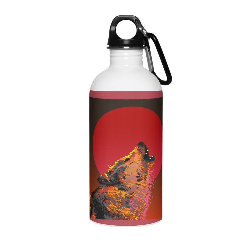 red moon rising Accessories Water Bottle by okik's Artist Shop