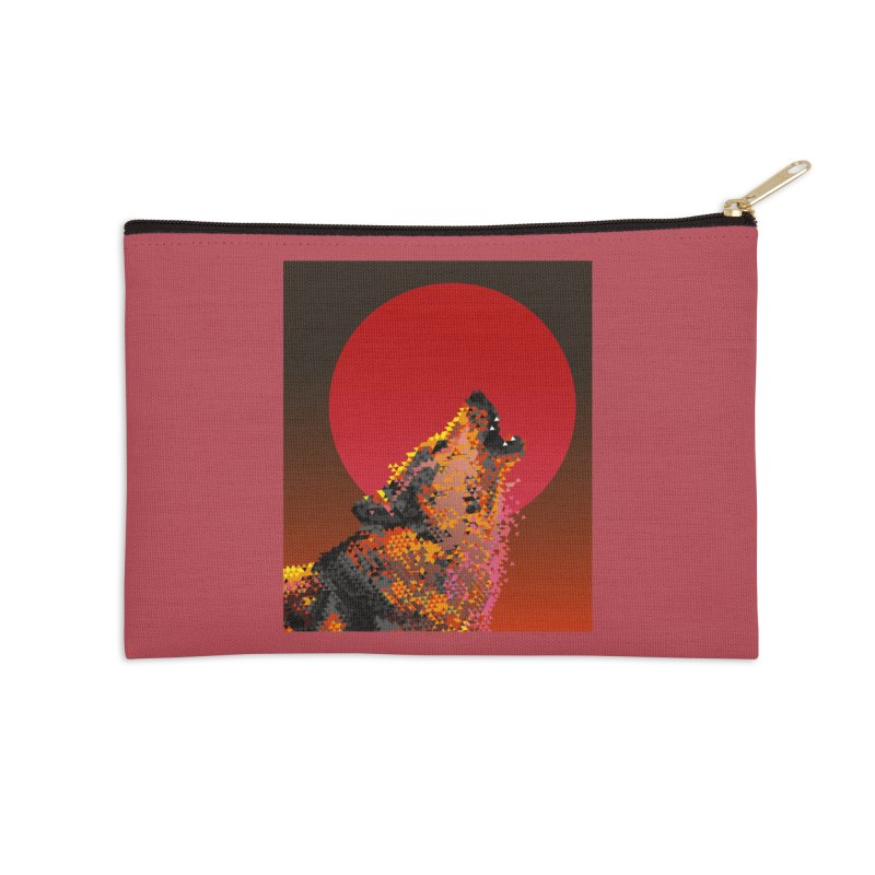 red moon rising Accessories Zip Pouch by okik's Artist Shop
