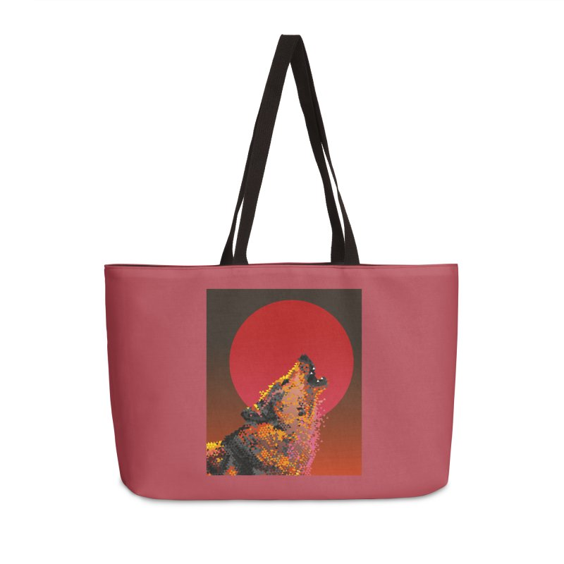 red moon rising Accessories Weekender Bag Bag by okik's Artist Shop