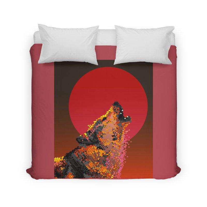 red moon rising Home Duvet by okik's Artist Shop