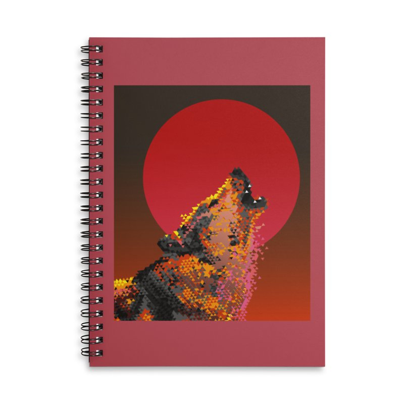 red moon rising Accessories Lined Spiral Notebook by okik's Artist Shop