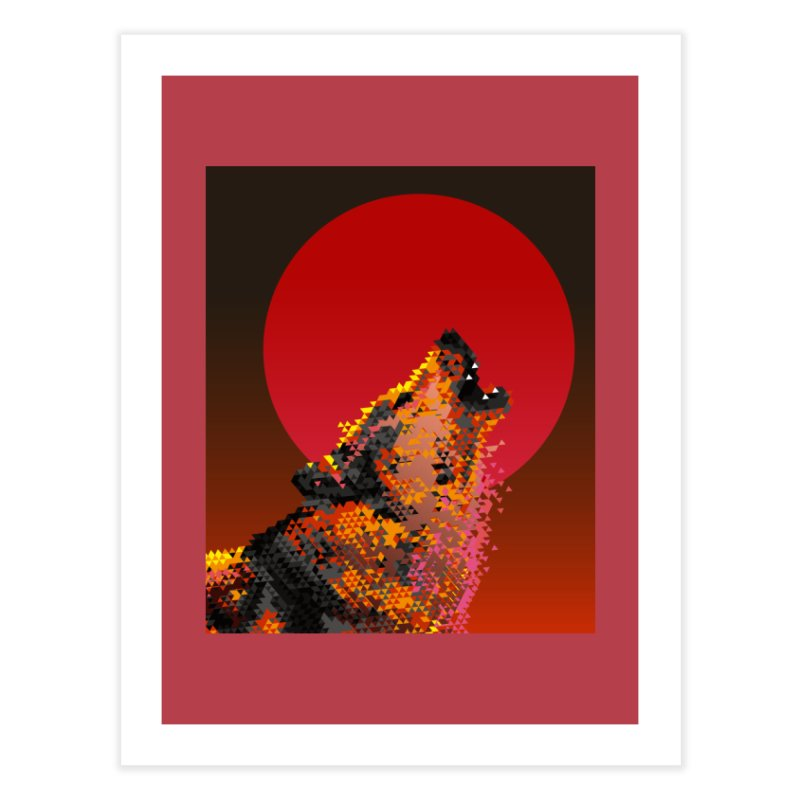 red moon rising Home Fine Art Print by okik's Artist Shop