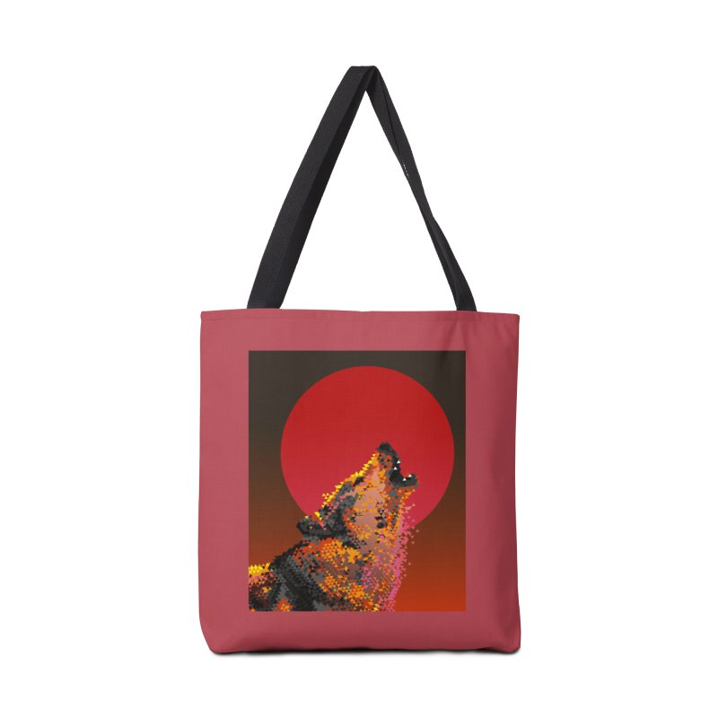 red moon rising Accessories Tote Bag Bag by okik's Artist Shop