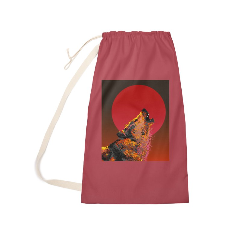 red moon rising Accessories Laundry Bag Bag by okik's Artist Shop