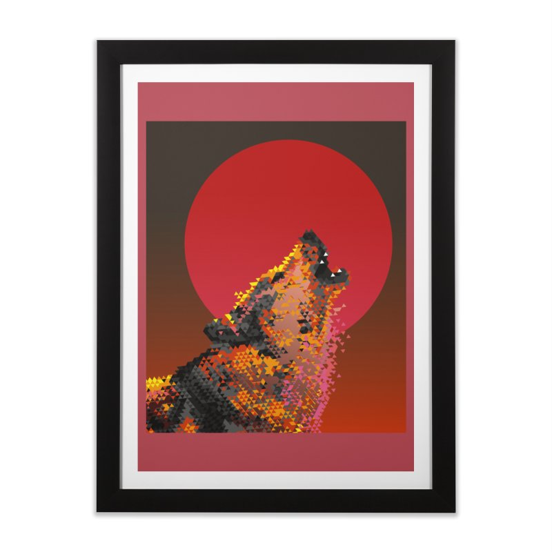 red moon rising Home Framed Fine Art Print by okik's Artist Shop