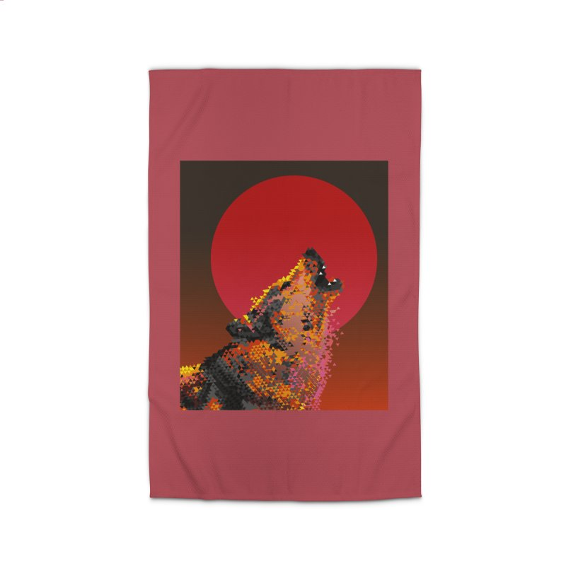 red moon rising Home Rug by okik's Artist Shop