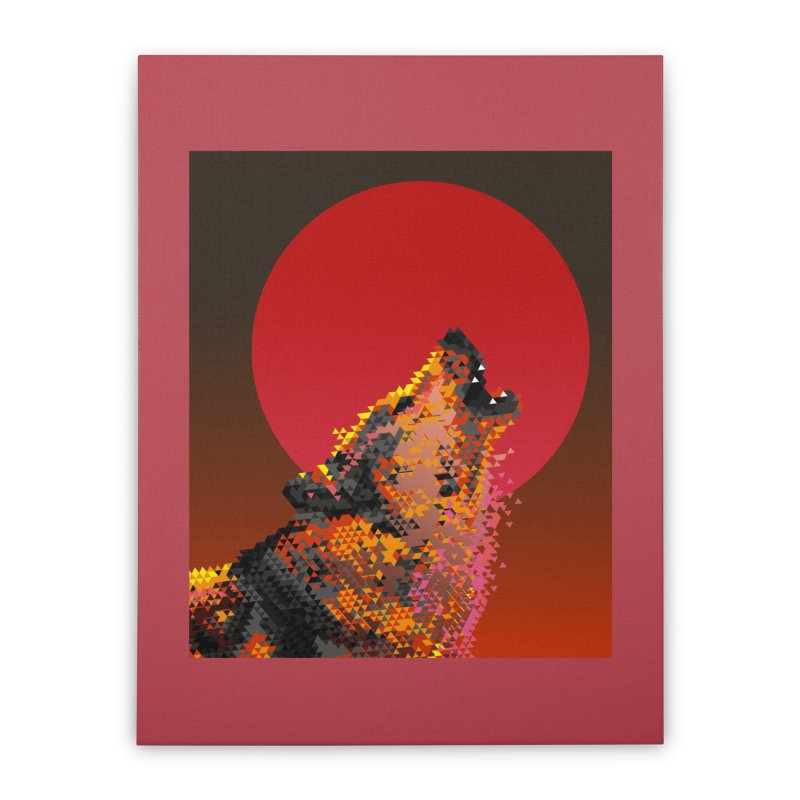 red moon rising Home Stretched Canvas by okik's Artist Shop
