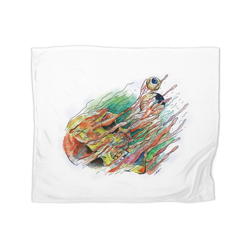 fade out Home Fleece Blanket Blanket by okik's Artist Shop