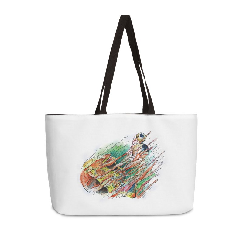 fade out Accessories Weekender Bag Bag by okik's Artist Shop
