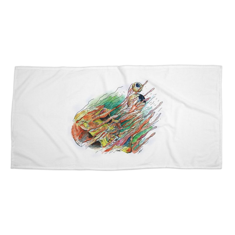 fade out Accessories Beach Towel by okik's Artist Shop