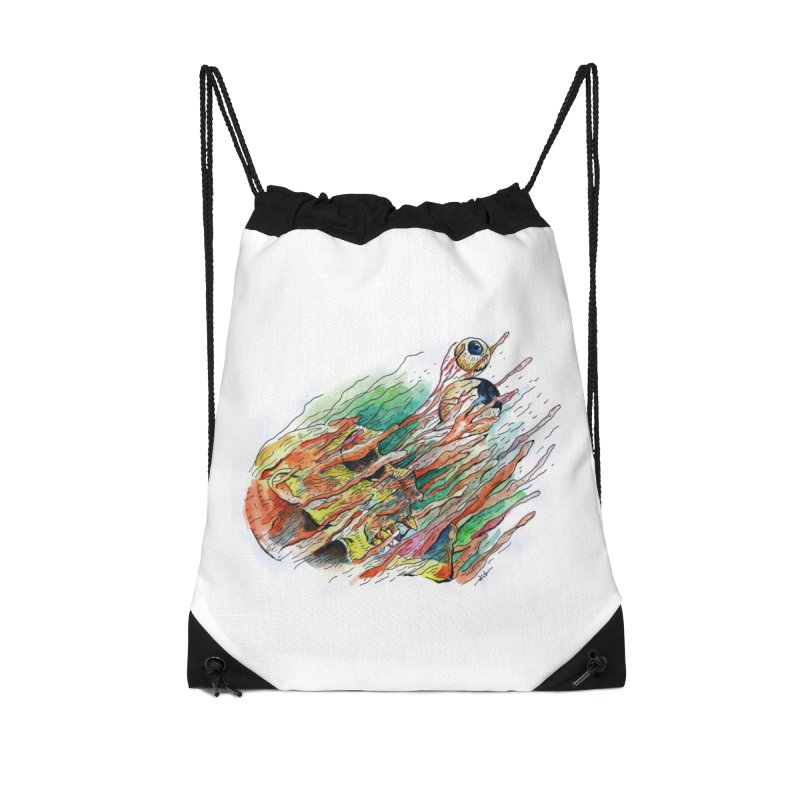 fade out Accessories Drawstring Bag Bag by okik's Artist Shop