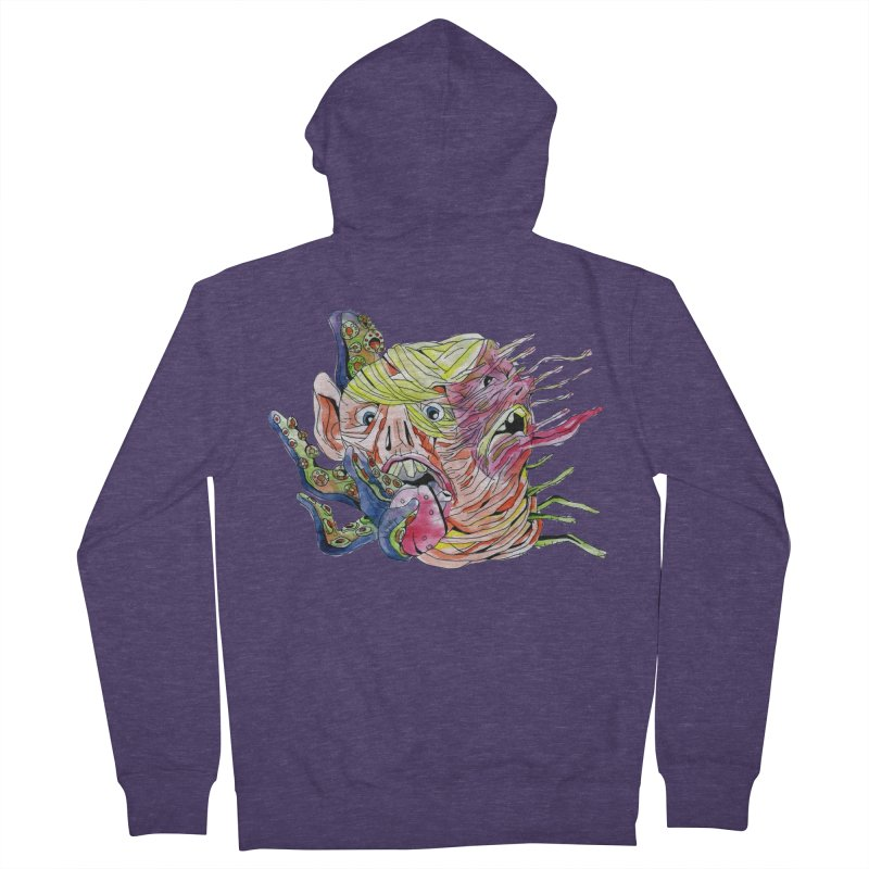 parasyte!!! Men's French Terry Zip-Up Hoody by okik's Artist Shop