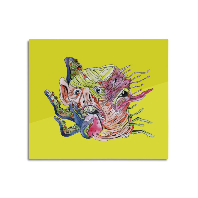parasyte!!! Home Mounted Aluminum Print by okik's Artist Shop