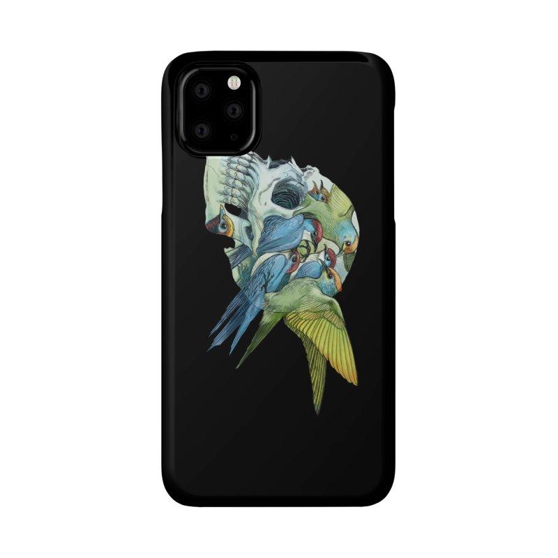 Skull Birds Accessories Phone Case by oktopussapiens's Artist Shop