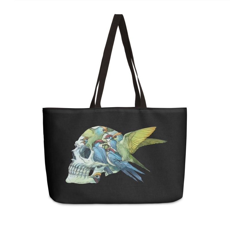 Skull Birds Accessories Weekender Bag Bag by oktopussapiens's Artist Shop