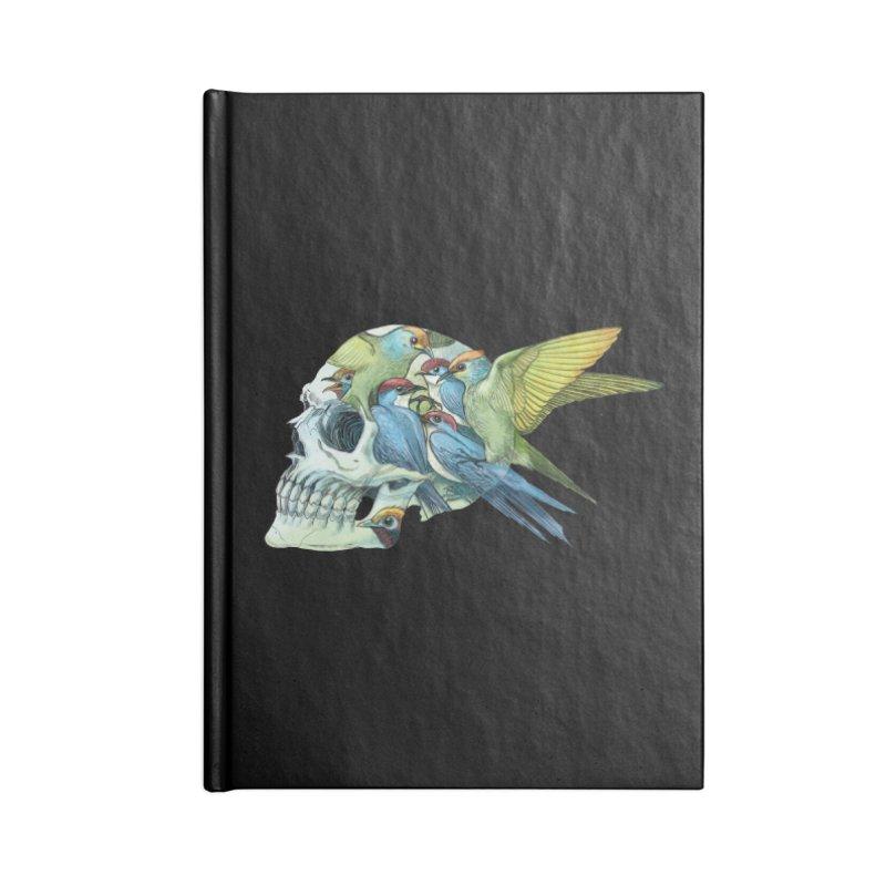 Skull Birds Accessories Lined Journal Notebook by oktopussapiens's Artist Shop