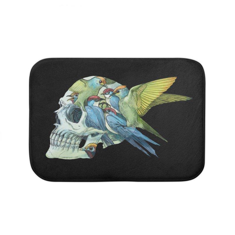 Skull Birds Home Bath Mat by oktopussapiens's Artist Shop