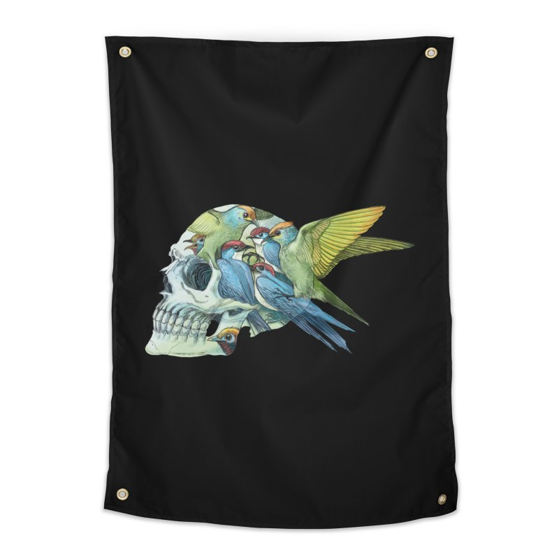 Skull Birds Home Tapestry by oktopussapiens's Artist Shop