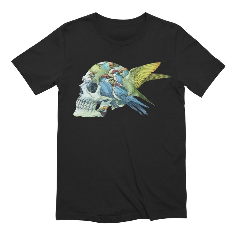 Skull Birds Men's Extra Soft T-Shirt by oktopussapiens's Artist Shop