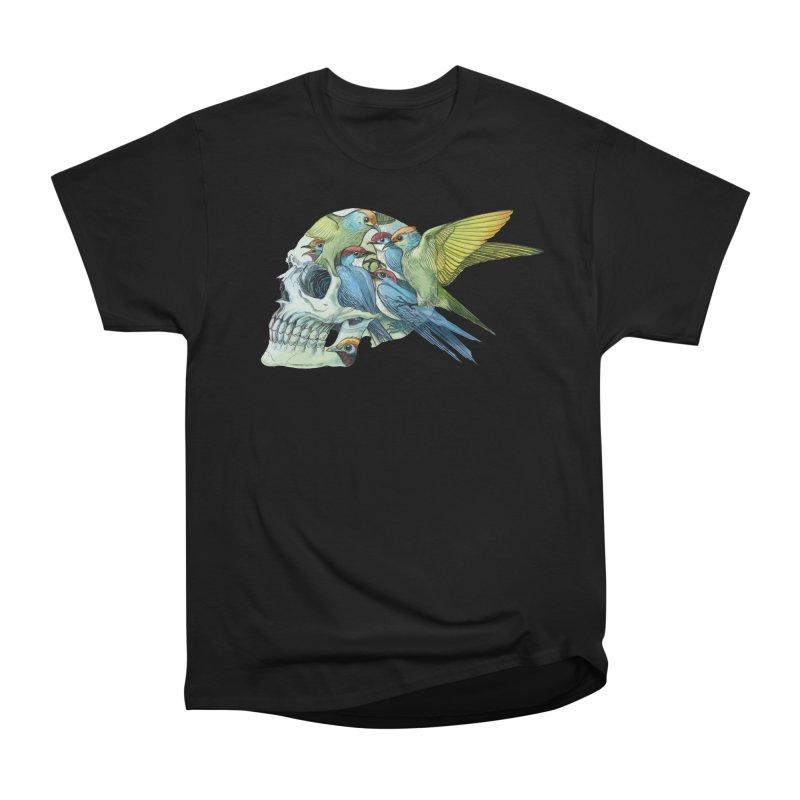 Skull Birds Men's Heavyweight T-Shirt by oktopussapiens's Artist Shop