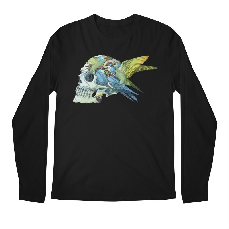 Skull Birds Men's Longsleeve T-Shirt by oktopussapiens's Artist Shop
