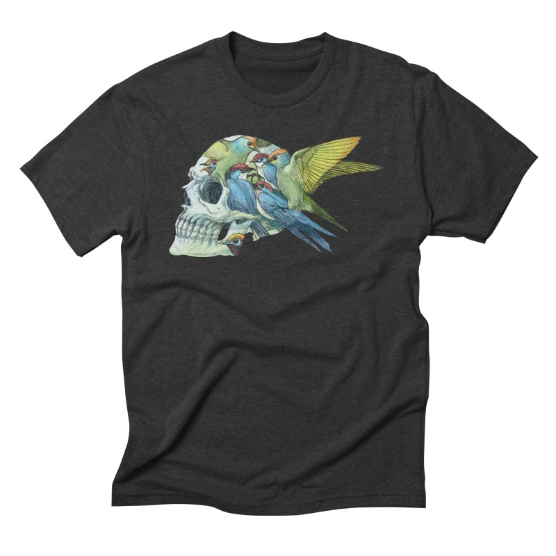 Skull Birds Men's Triblend T-Shirt by oktopussapiens's Artist Shop