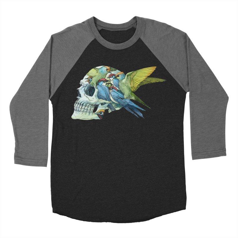 Skull Birds Women's Baseball Triblend Longsleeve T-Shirt by oktopussapiens's Artist Shop