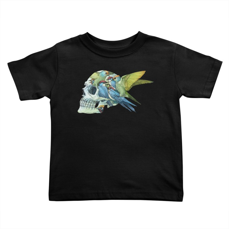 Skull Birds Kids Toddler T-Shirt by oktopussapiens's Artist Shop