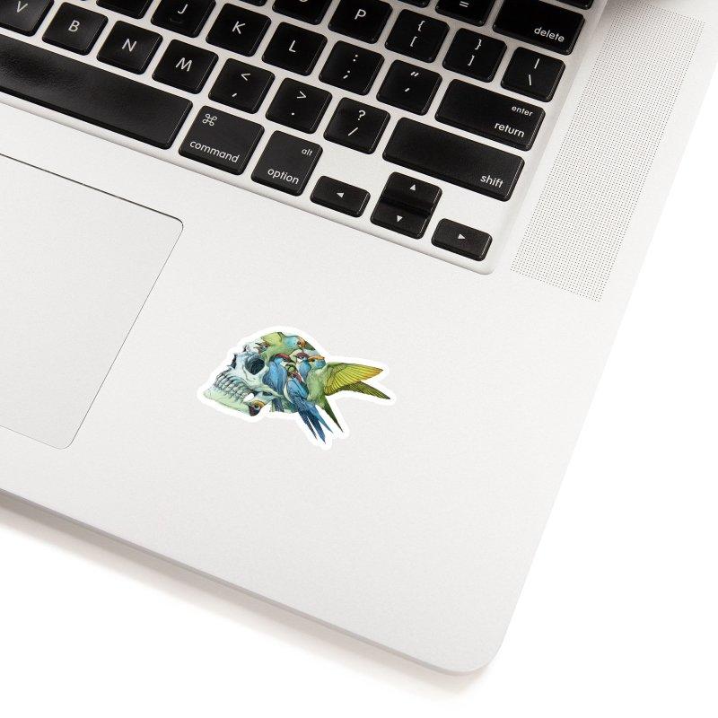 Skull Birds Accessories Sticker by oktopussapiens's Artist Shop