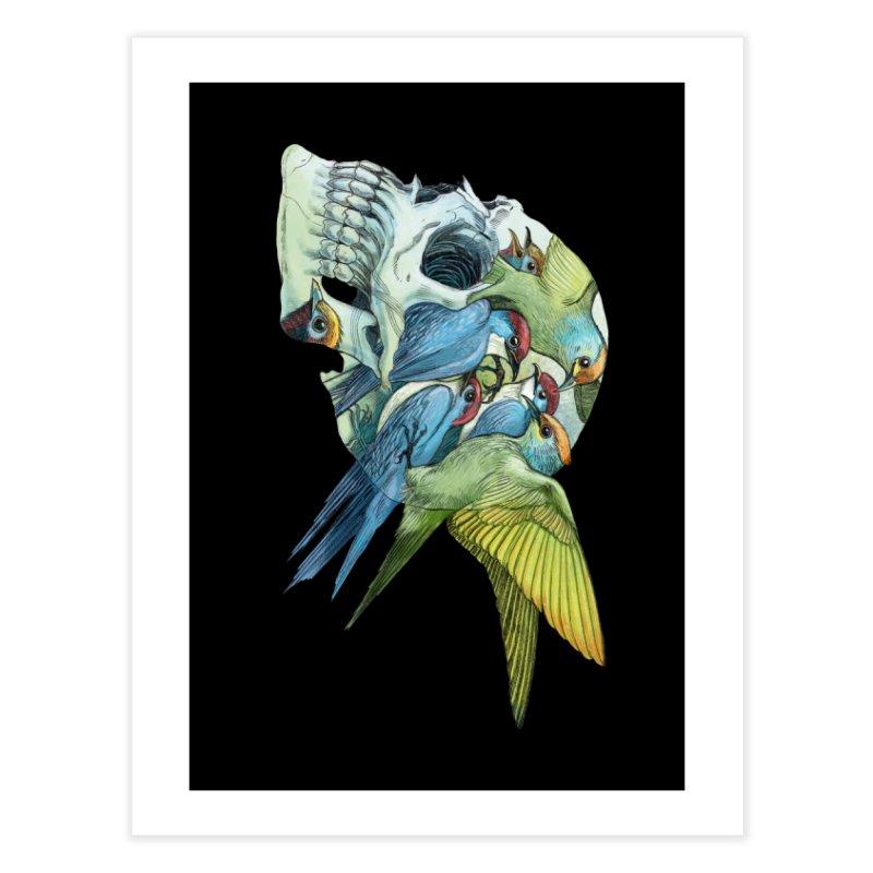 Skull Birds Home Fine Art Print by oktopussapiens's Artist Shop