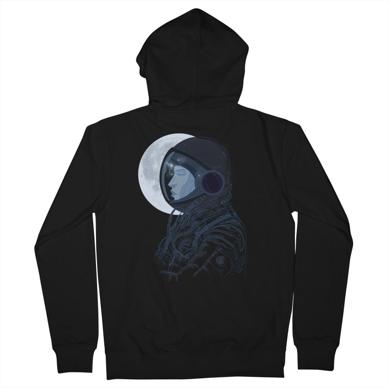 Human eclipse Men's French Terry Zip-Up Hoody by oktopussapiens's Artist Shop