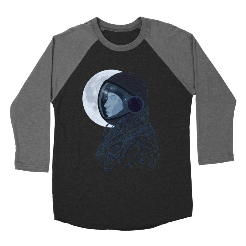 Human eclipse Women's Baseball Triblend T-Shirt by oktopussapiens's Artist Shop