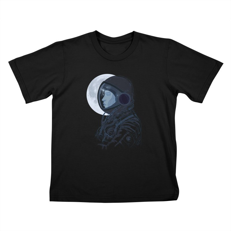 Human eclipse Kids T-shirt by oktopussapiens's Artist Shop
