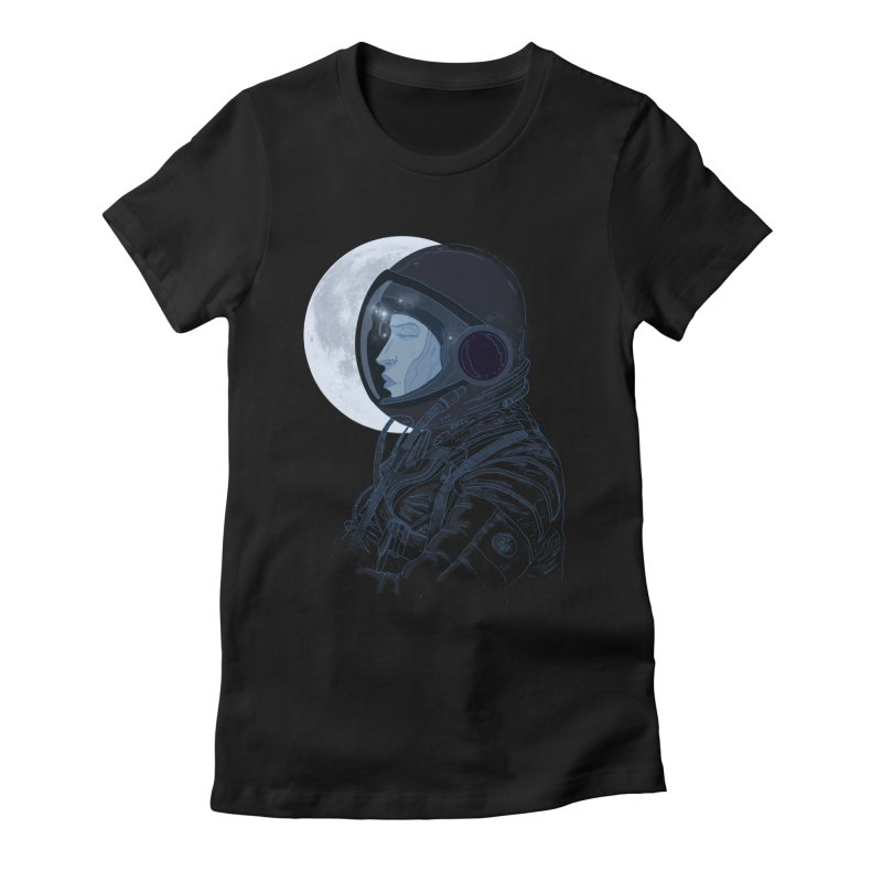 Human eclipse Women's Fitted T-Shirt by oktopussapiens's Artist Shop