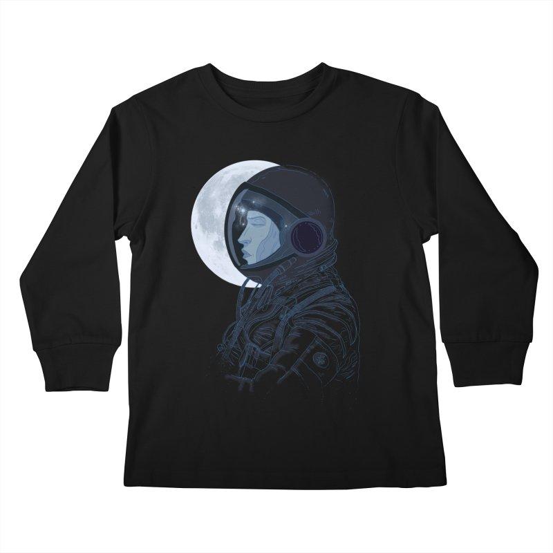 Human eclipse Kids Longsleeve T-Shirt by oktopussapiens's Artist Shop
