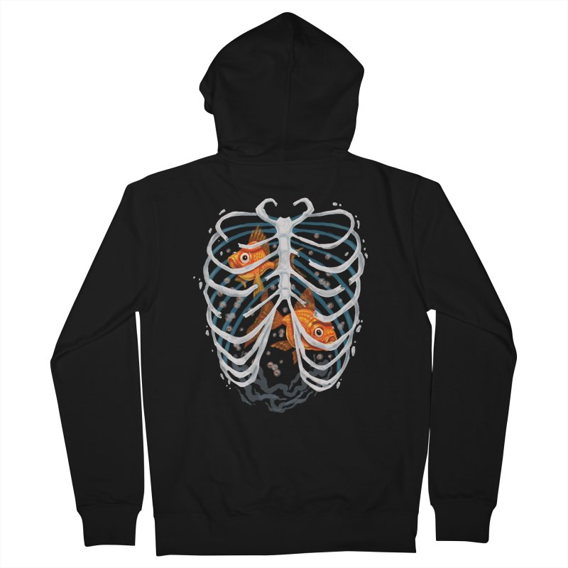Life and death Men's French Terry Zip-Up Hoody by oktopussapiens's Artist Shop