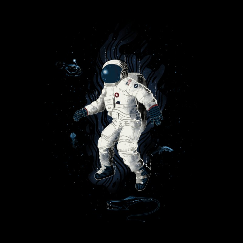 Lost in the abyss of space None  by oktopussapiens's Artist Shop