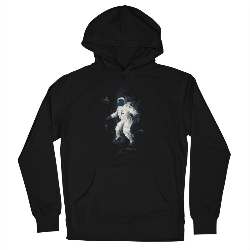 Lost in the abyss of space Men's French Terry Pullover Hoody by oktopussapiens's Artist Shop