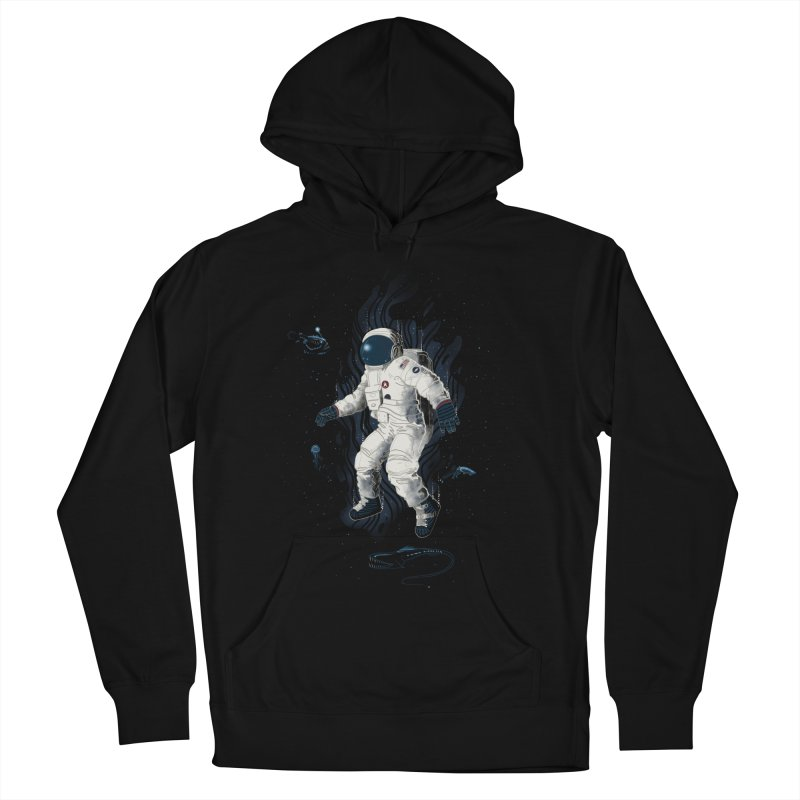 Lost in the abyss of space Women's Pullover Hoody by oktopussapiens's Artist Shop
